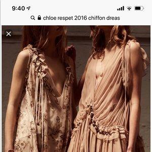 Chloe chiffon and silk dress